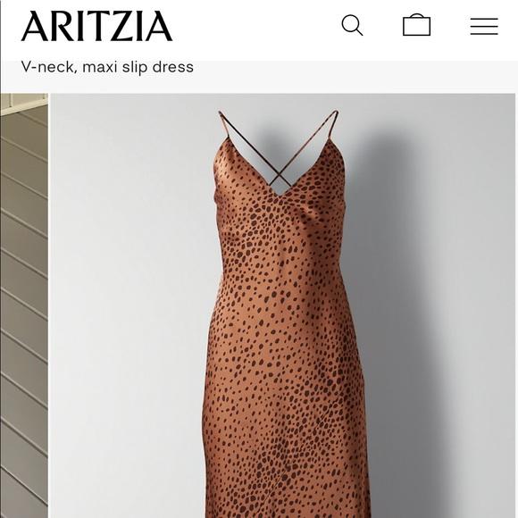 Aritzia: Wilfred ONLY Maxi slip dress